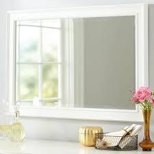 white mirror in decors