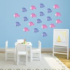 Pink And Purple Fish Wall Decals Set Of 20 Wall Decal World