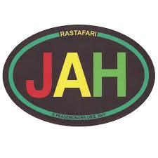 Cs380 Rastafarian Jah Colorful Oval Reggae Rasta Bob Marley Sticker Decal