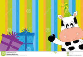 Cow Greeting Party Stock Vector Illustration Of Party 16706262