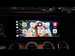 apple carplay with wallpaper background
