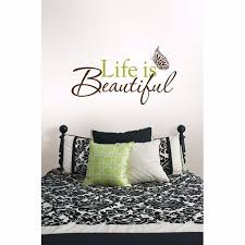 Life Is Beautiful Wall Phrases Wall Quote Decals Wallpops