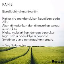 kamis bismillaahirrahman quotes writings by devy nadya