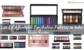 affordable eyeshadow palettes in india