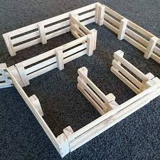 Wooden Toy Fence Set Made From Recycled Wood 25 00 Farm Toys Farm Fence Diy Horse Barn