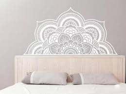 Half Mandala Wall Decal Mandala Stickers Boho Bohemian Etsy