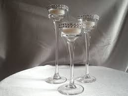 long stem glass tealight candleholders
