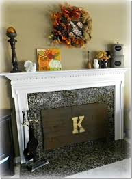 pallet wood fireplace cover