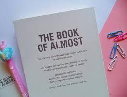 puisi di buku the book of almost yang bakal buat kamu jadi
