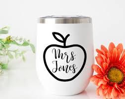 Teacher Cup Decal Etsy