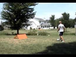 homemade soccer rebounder demo you