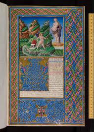 Imagen de una hermosa edición de Il Filocolo de Bocaccio