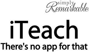 Amazon Com Simply Remarkable Vinyl Decal Sticker For Computer Wall Car Mac Macbook And More Humorous Teaching Decal For Teachers Quote Iteach There S No App For That Size 8 X