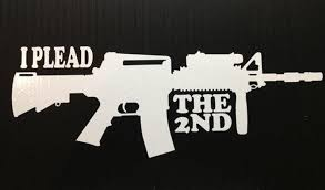 I Plead The 2nd 8x5 Decal White Etsy