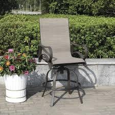 camden swivel high dining patio chair