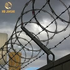 China Razor Barb Wire Price Per Roll Galvanized Barbed Wire Farm Fence China Razor Barbed Wire Razor Wire