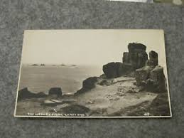 Early Cornwall postcard - The Wesley Stone - Lands End | eBay