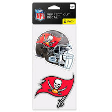 Tampa Bay Buccaneers Wincraft 4 X 4 Perfect Cut 2 Pack Car Decal Set