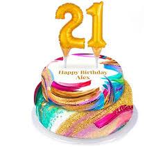 Personalised 21st Birthday Cake Number Cake Bakerdays