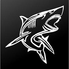 Tribal Shark Vinyl Decal Car Truck Boat Window Body Sticker Kandy Vinyl Shop