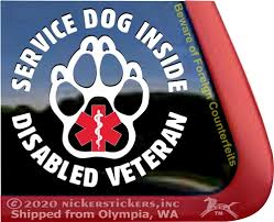 Service Dog Paw Print Decals Stickers Nickerstickers