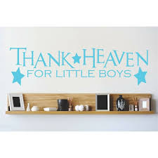 Design With Vinyl Thanks Heaven For Little Boys Wall Decal Wayfair