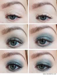 simple grey turquoise smokey eye makeup