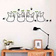 My Neighbor Totoro Cute Wall Decals Ghibli Store