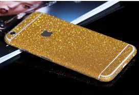 Gold Sparkle Decal Wrap Skin Set Iphone 6s 6 Plus Mavasoap