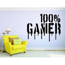 3m Gamer Wall Mural Sticker Decal Vinyl Decor 100 Percent Video Game Player
