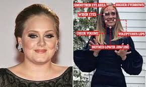 Why does Adele's face look SO different after weight loss?   Daily Mail  Online