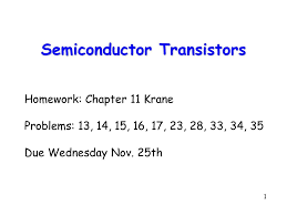 Semiconductor Transistors - ppt download