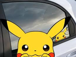 Pokemon Pikachu Anime 7 Window Car Decal Sticker