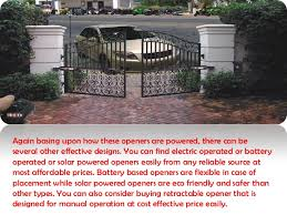 Different Designs Of Driveway Gate Openers And Their Functionalities