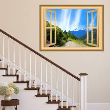Vwaq Mountain Window Wall Decal Outdoors Wall Decor Peel And Stick Mur