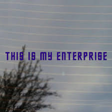 This Is My Enterprise Science Fiction Vinyl Decal Free Us Shipping For Car Laptop Tablets Etc