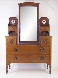 antique edwardian oak arts and crafts