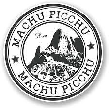 Amazon Com 2 X 10cm 100mm Machu Picchu Peru Vinyl Sticker Decal Laptop Travel Luggage Car Ipad Sign Fun 5960 Arts Crafts Sewing