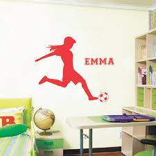 Football Soccer Wall Decals Vinyl Personalized Name Poster Wall Art Wall Sticker For Kids Girls Rooms Decoration Wall Stickers Wall Stickers For Kids Art Wall Stickername Wall Stickers Aliexpress