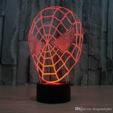 2020 Creative Fantastic Spiderman Mask 3d Led Light Lamp Bedroom Decoration Night Light For Children Kids Sleeping Lamp Led Lamp From Hengrunlights 24 54 Dhgate Com
