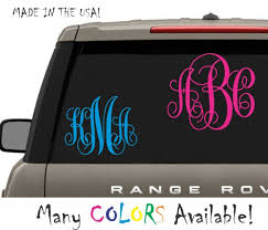 Monogram Initials 2 10 White Vinyl Decal Sticker Phone Car Truck Laptop Cute For Sale Online Ebay
