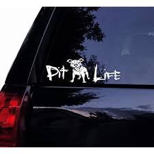 Amazon Com Tshirt Rocket Happy Pit Life Floppy Ears Decal Cute Happy Pitbull Pit Bull Dog Terrier Vinyl Car Decal Laptop Decal Car Window Wall Sticker 6 White Automotive