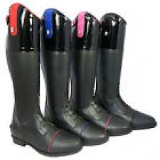 girls las leather long riding boots