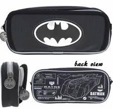 dc ics batman double deck zipper bag