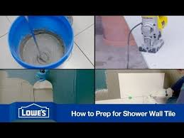 how to prep and tile a shower you