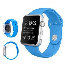 Силиконовый ремешок для Apple Watch Sport 42 mm Голубой ( Blue )., цена  299,90 грн., купить в Харькове — Prom.ua (ID#674411675)