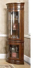 corner wall mounted glass display