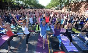 por om street yoga event in west