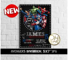 Avengers Birthday Invitation Avengers Invitation Avengers Party