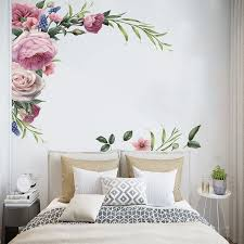 New Corner Peony Flower Wallsticker Eco Wall Painted For Living Room Bedroom Removes Paintings Room Decor Wall Decals Home Decor Wall Stickers Aliexpress